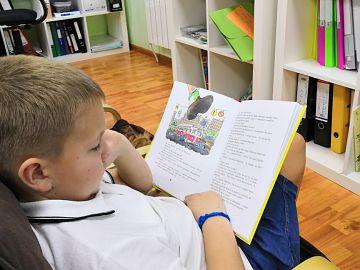 Между занятиями немного чтения.